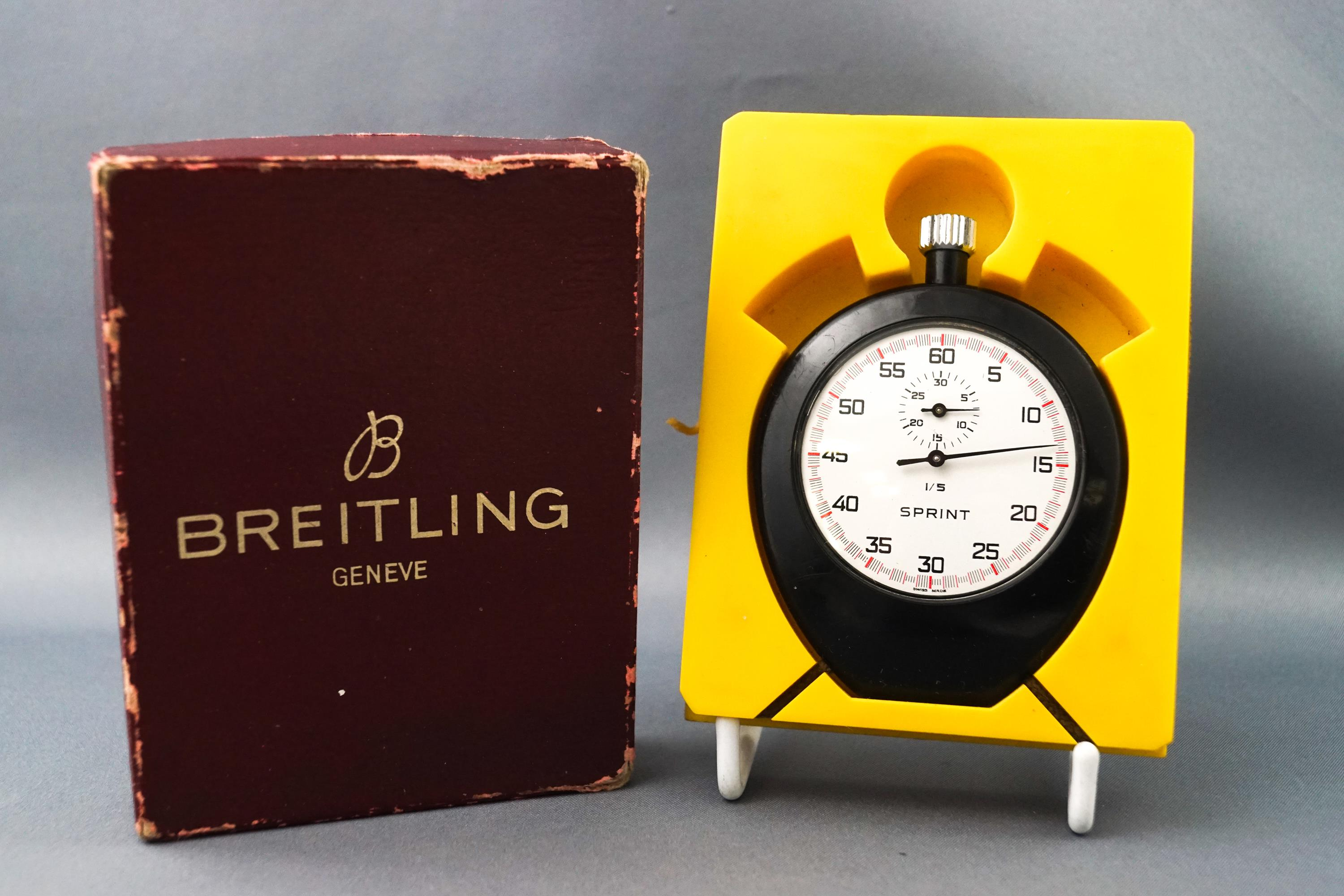 Lot 37 - A boxed Breitling sprint stop watch,