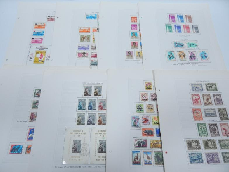 Lot 3332 - Congo. - Loose sheets from 1930's/40s, and early Republic.