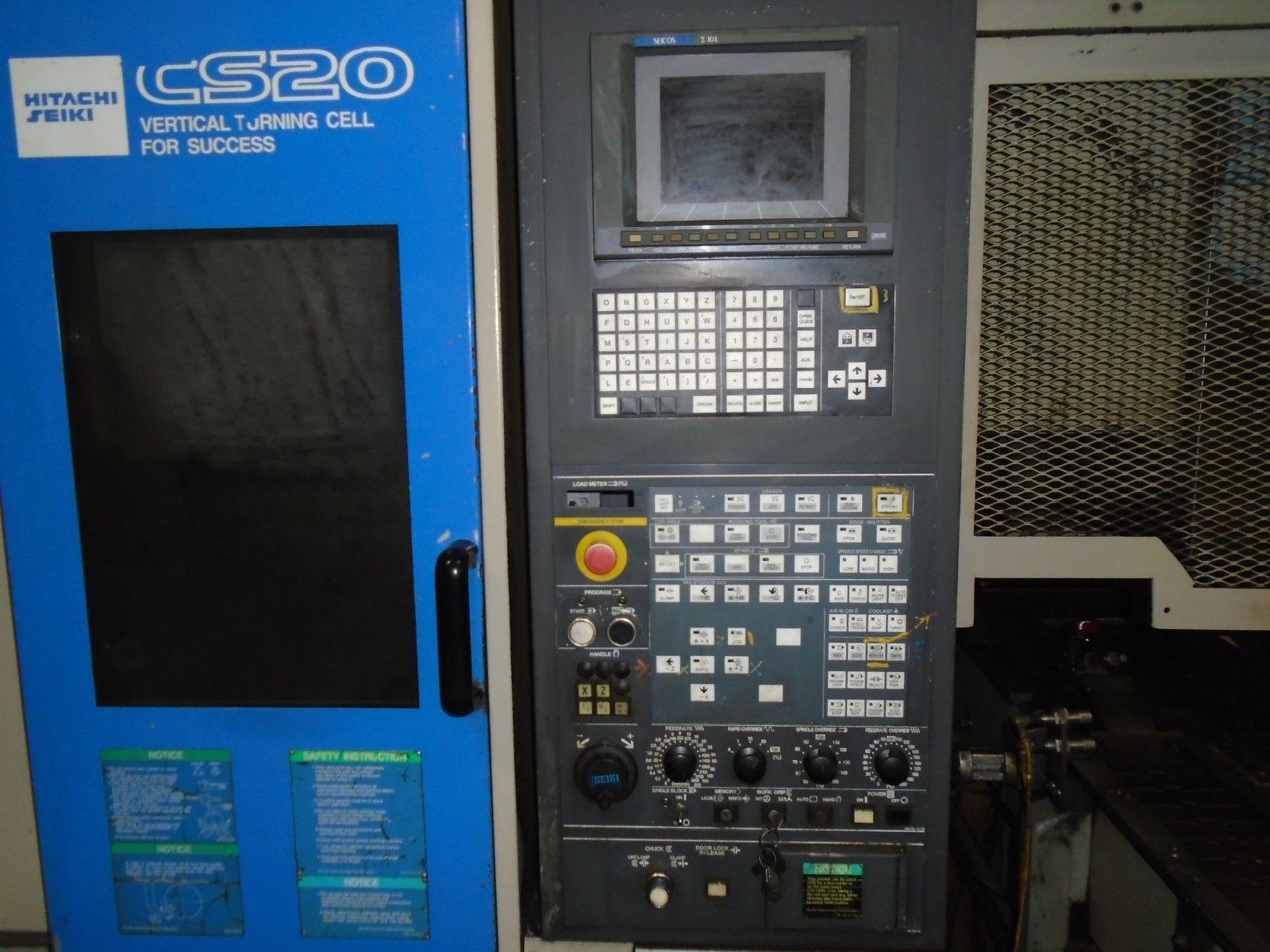 Hitachi Seiki CS20 Vertical CNC Lathe 10L Seicos Control 1998 - Image 7 of 12