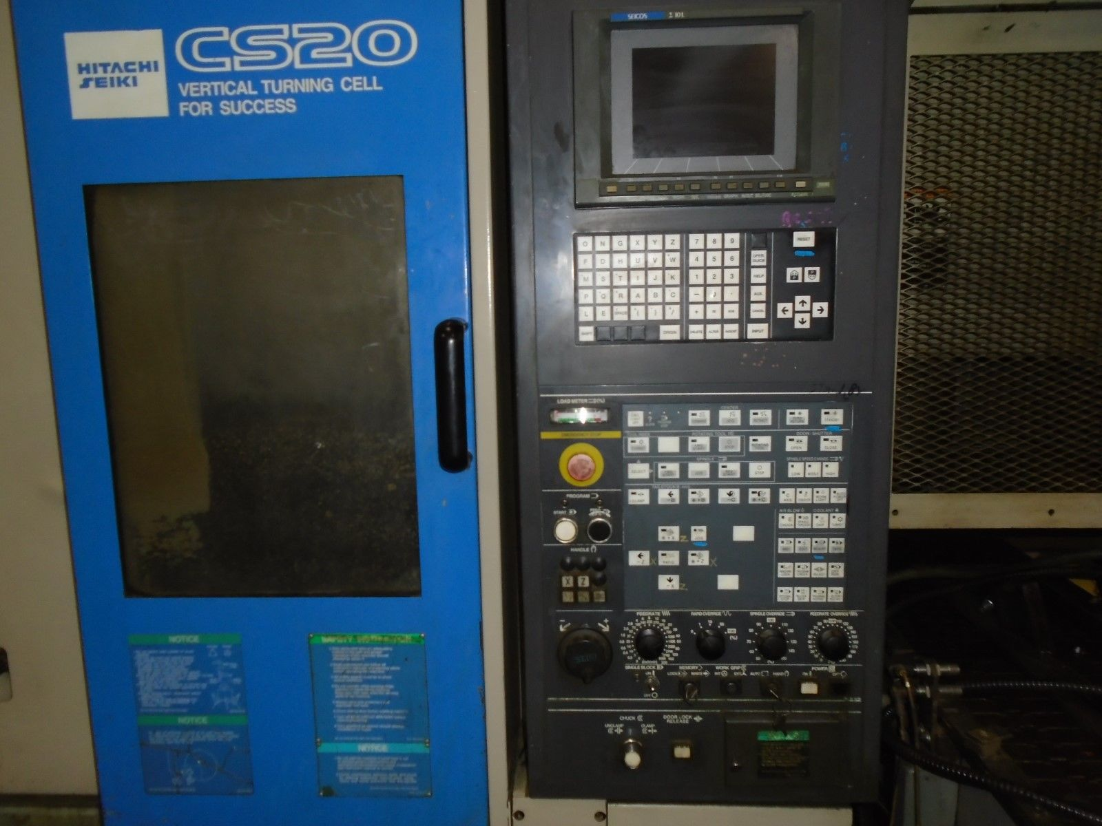Hitachi Seiki CS20 Vertical CNC Lathe 10L Seicos Control 1998 - Image 6 of 12