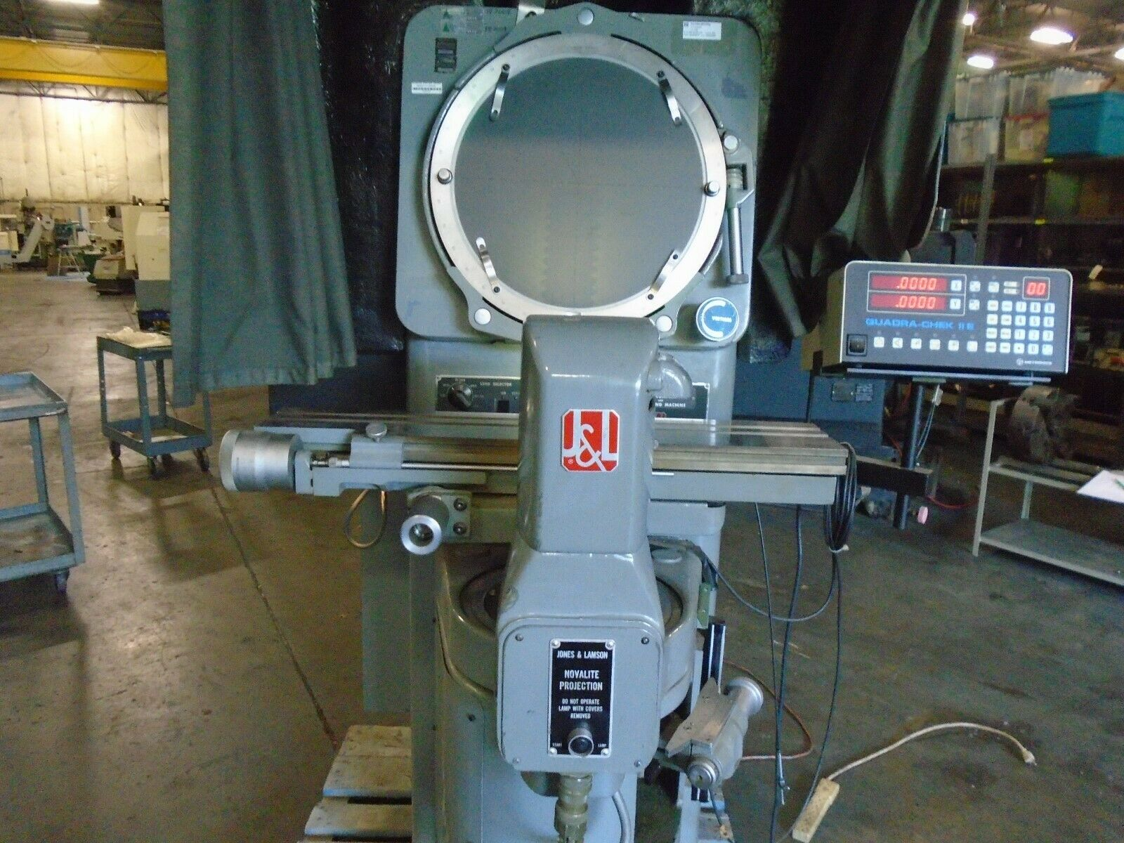 Jones & Lamson FC-14 Optical Comparator With DRO/Power Elevation - Image 2 of 11