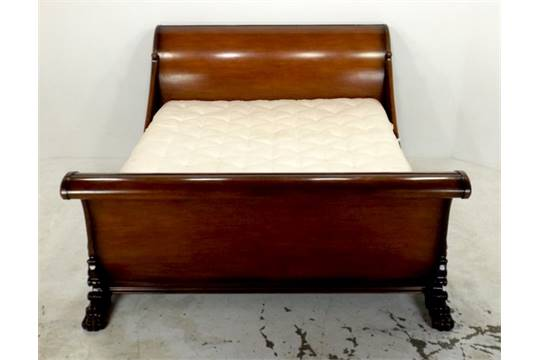 A Mahogany Brodsworth Sleigh Bed By The And So To Bed Company