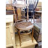 A BENTWOOD SINGLE CHAIR