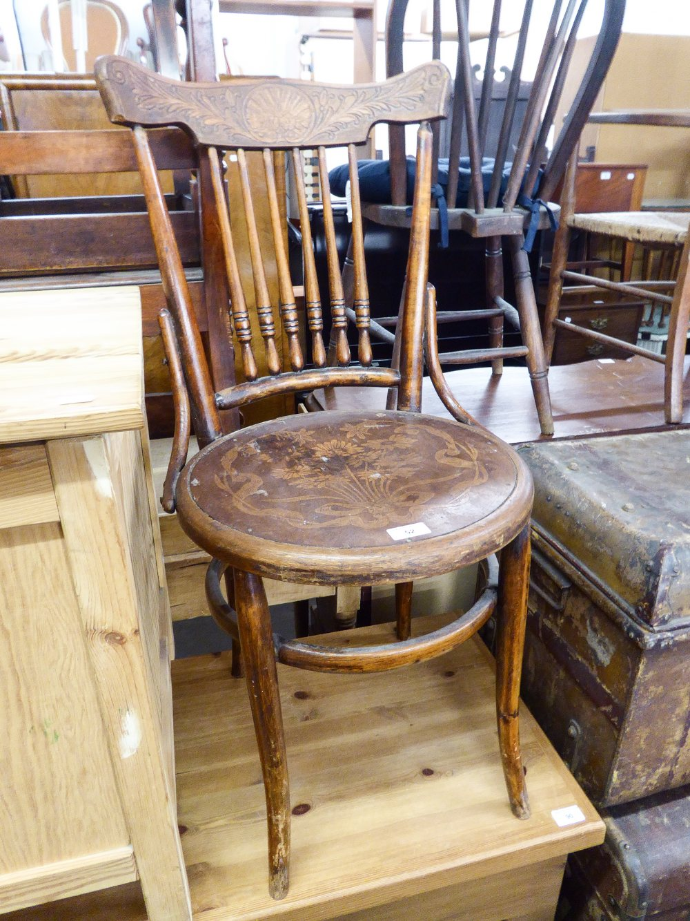 Lot 52 - A BENTWOOD SINGLE CHAIR
