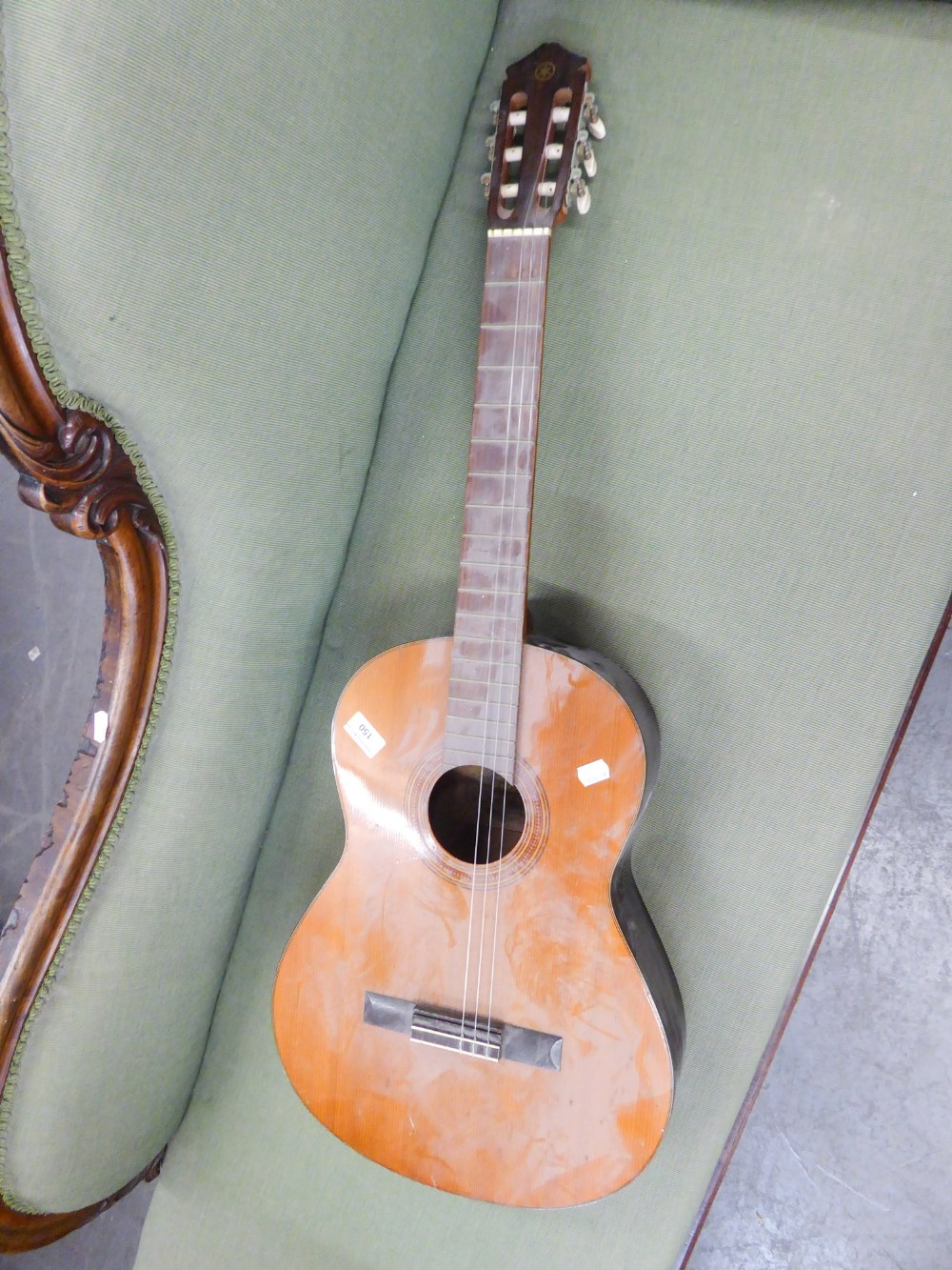 Lot 150 - A YAMAHA SIX STRING SPANISH STYLE GUITAR