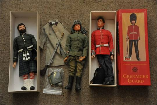 Vintage 1970s Action Man Argyle And Sutherland Highlander With Brown