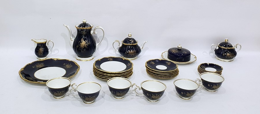 Lot 41 - 20th century German part tea service to include teapot, teacups, tea plates, etc