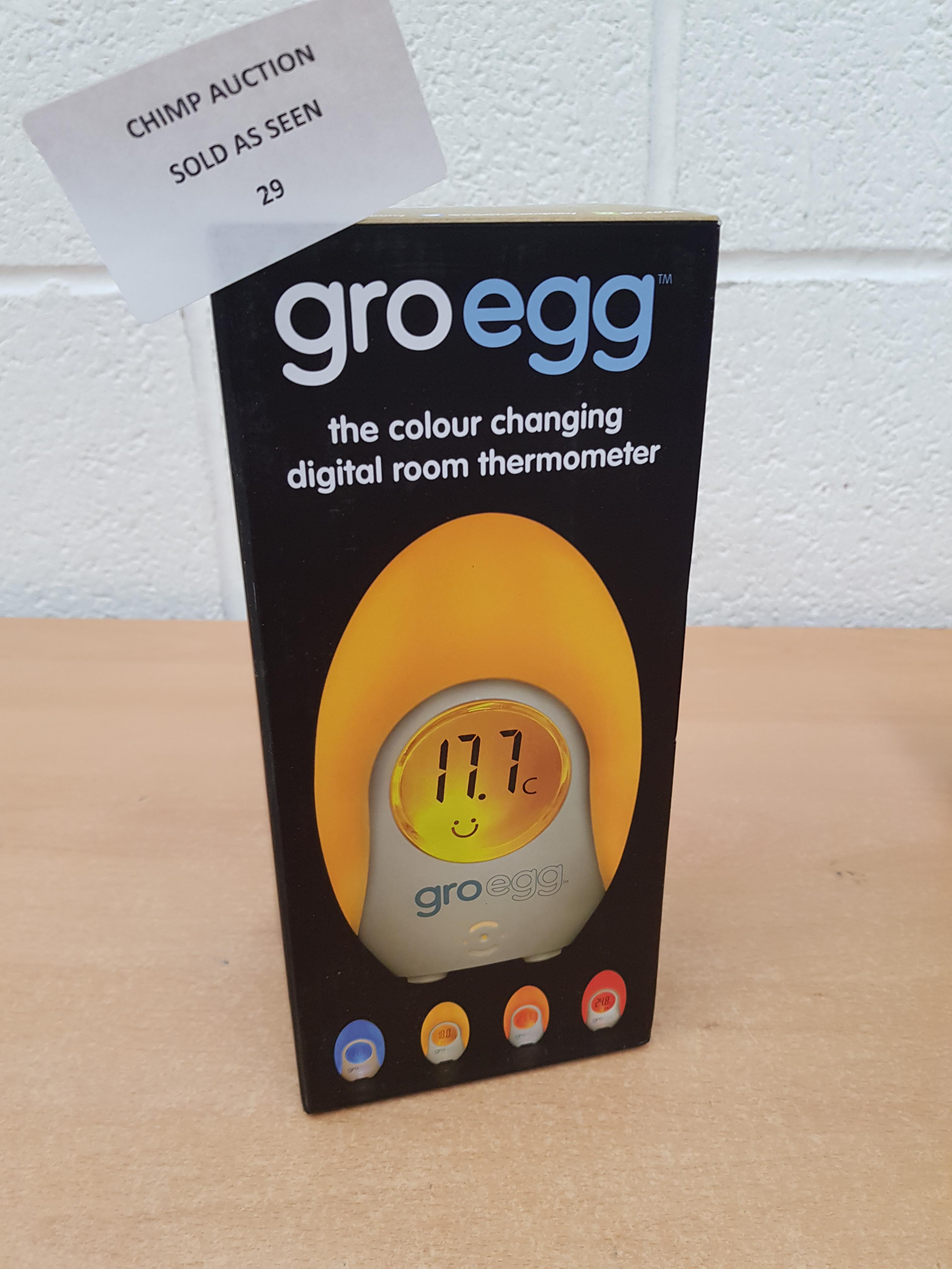 Lot 29 - The Gro Company Groegg Colour Changing Room Thermometer