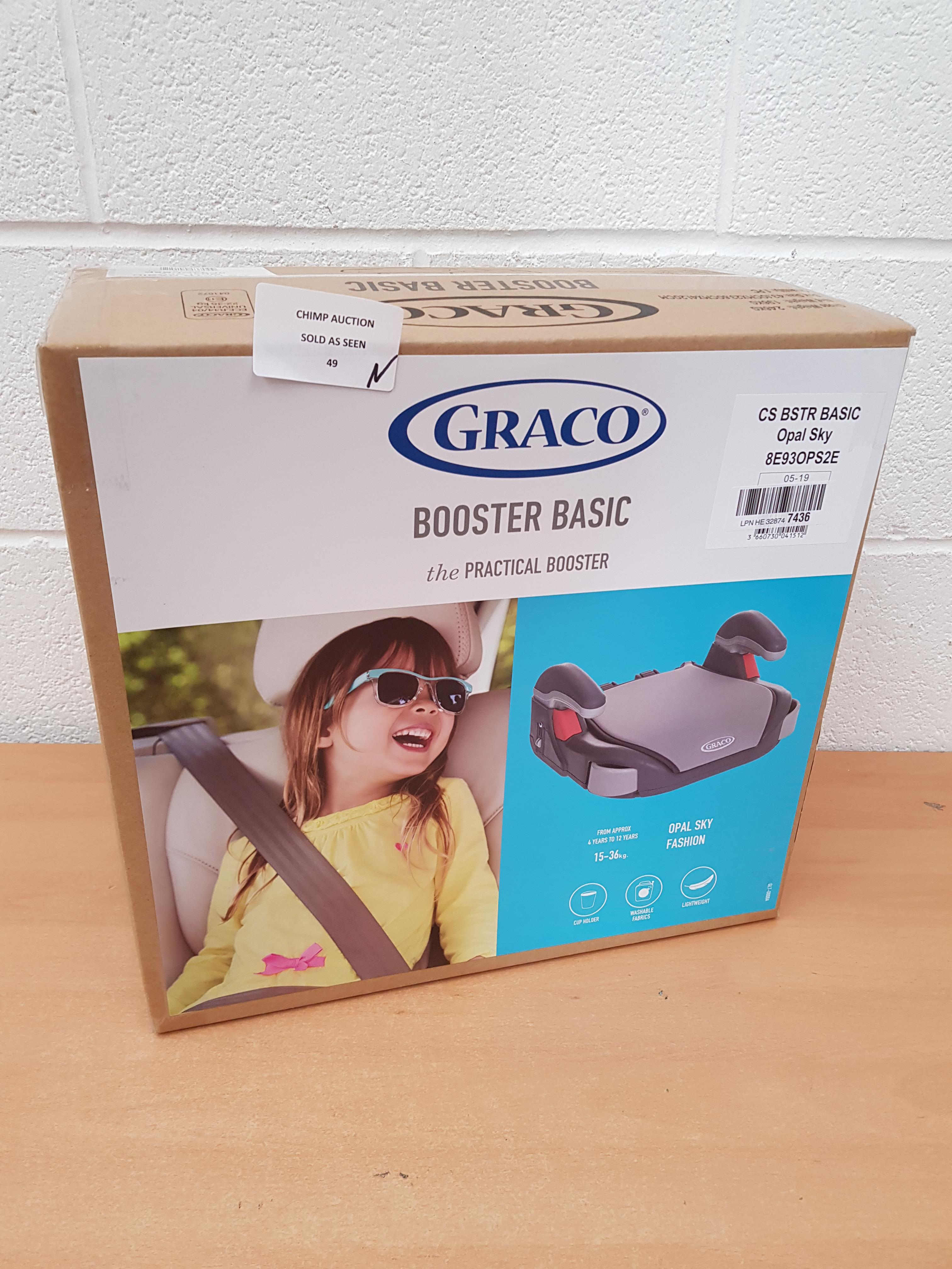 Lot 49 - Brand new Graco Booster Basic Car Seat, Group 3