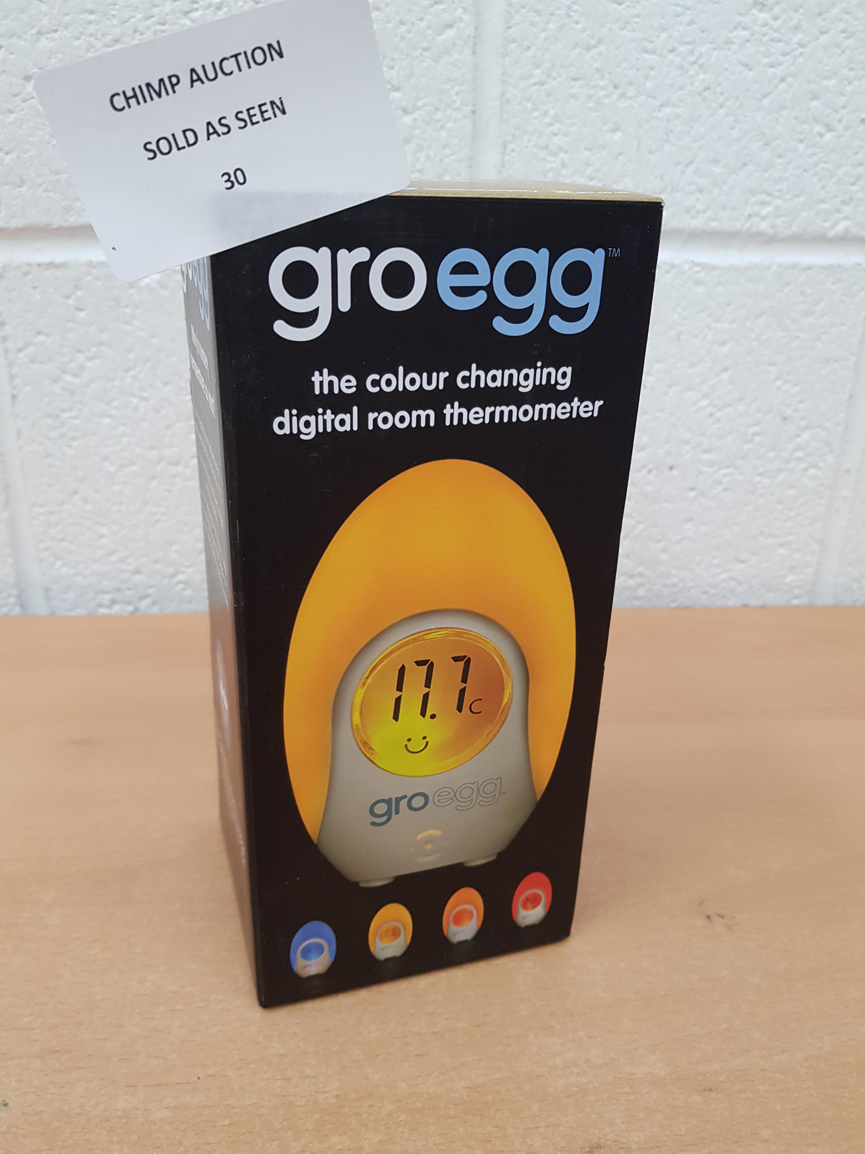 Lot 30 - The Gro Company Groegg Colour Changing Room Thermometer