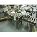 Mild steel 90 degree power roller conveyor, 60 in. x 60 in., 15 in. rollers. Rigging Fee: $100