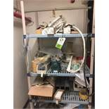 Plastic shelf and contents. Rigging Fee: $100