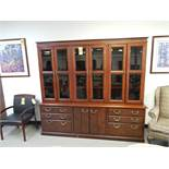 "Kimball Storage Credenza with Bookcase, Model PR2478CSF, 89-1/2"" W x 82""H x 18-3/4"" D"