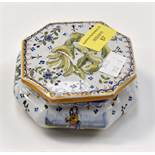 A 19th Century H.B. Quimper trinket box and cover.