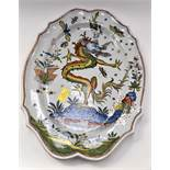 An impressive large Grande Maison plate with first period HB mark to base,