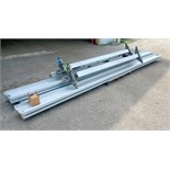 Gorbel 1000 lb cpacity trolley system with rails.