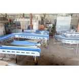 """Plastic link belt motorized conveyor system consisting of; (2) sections 30.5"""" x 80"""" inclined (no"""