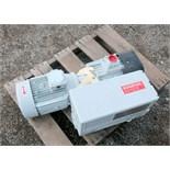 Unused Oerlikon Leybold Sogevac SV100 B single stage, oil-selaed rotary vane vacuum pump. Serial #