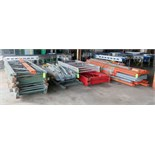 Lot of pallet racking consisting of; approximately (30) 8', 10', and 12' uprights, approximately (