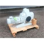 Unused Leybold RUVAC WAU 2001 roots vacuum pump. 50/60 Hz, 10 HP motor.