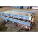 """Lot of (2) sections of Hytrol roller conveyor, approximately 52"""" wide x 10' long."""