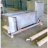"""Stainless steel dual auger dough pump. Augers approximately 6"""" diameter x 72"""" long. (2) spare augers"""