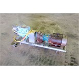Waukesha Positive Displacement Pump, Model 130/U2, Stainless Steel. Approximate displacement 0.254
