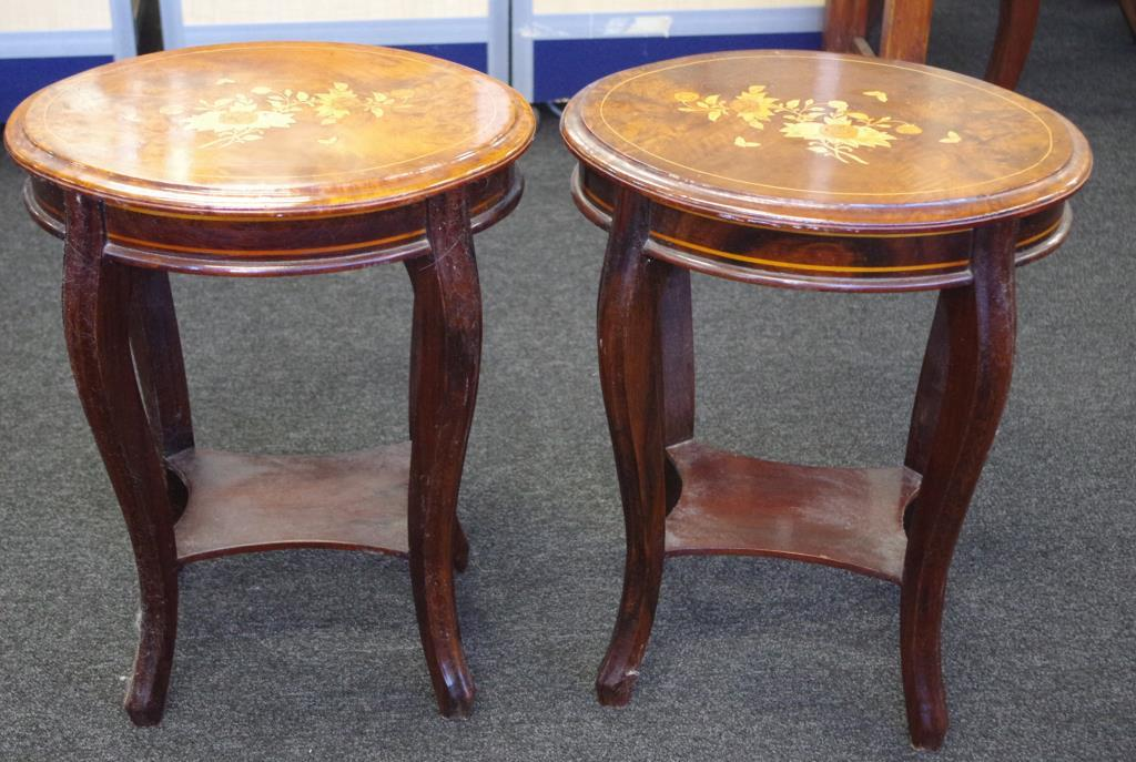 Lot 1834 - Pair of Cambodian rosewood side tables
