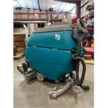 TENNANT T5 FLOOR SCRUBBER, BUILT IN BATTERY CHARGER, RUNS & OPERATES