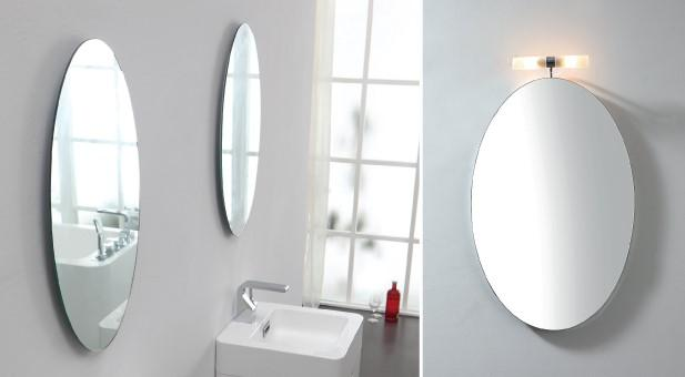 backlit mirror bathroom 1 x stylish bathroom oval mirror 45 with top light a 10160