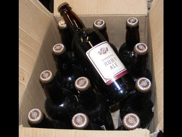 Lot 56 - Twelve bottles of Ushers Ruby Ale - 1997