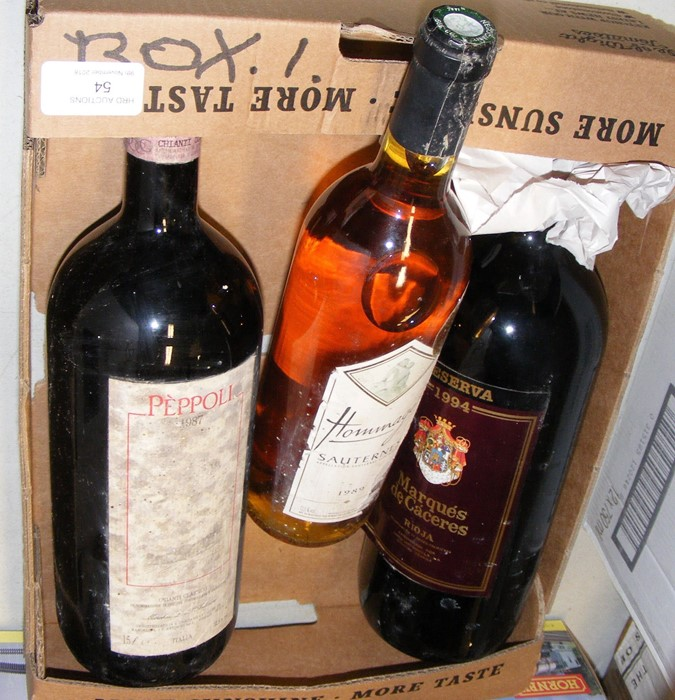 Lot 54 - A 1987 bottle of Peppoli, together with two other