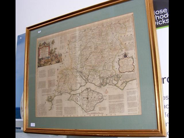 """Lot 13 - """"A New Improved Map of Hampshire"""" by T KITCHIN - 54c"""