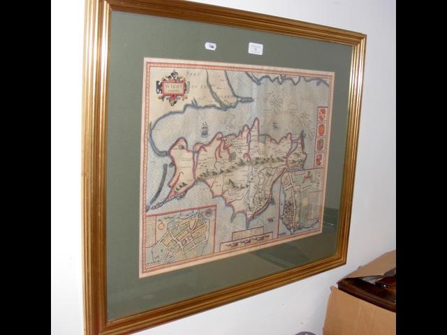 Lot 36 - JOHN SPEED - a 17th century hand coloured map of t