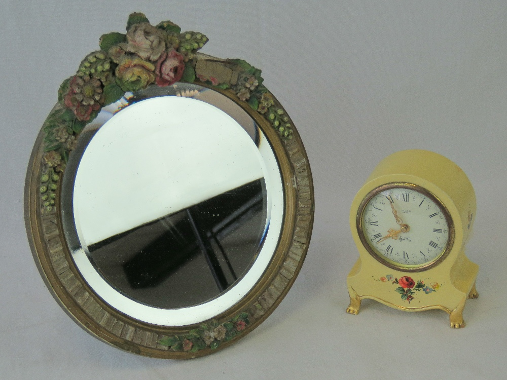 Lot 513 - A hand painted Paladin musical clock, to
