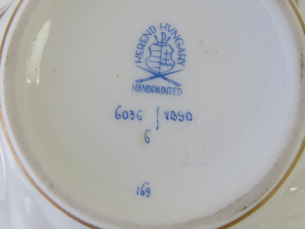 A Herend porcelain sugar bowl with twin - Image 2 of 4