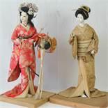 Two 20th century Geisha girl free standi