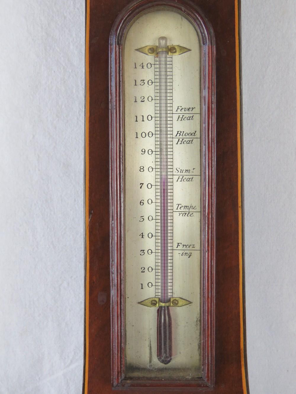 A good five glass late Georgian baromete - Image 2 of 5