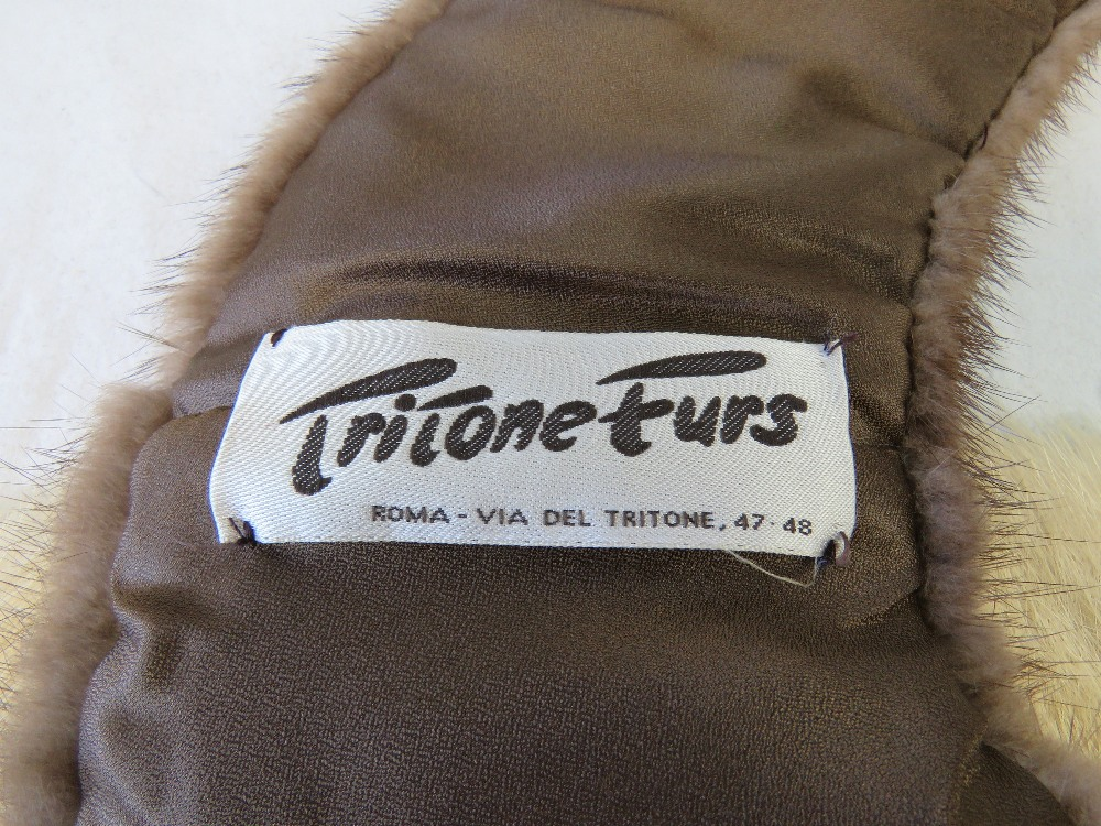 Vintage furs; two stoles, a blush mink c - Image 3 of 3