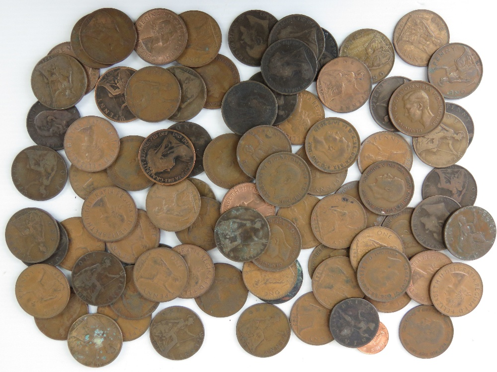 A quantity of 1p pieces, Queen Victoria