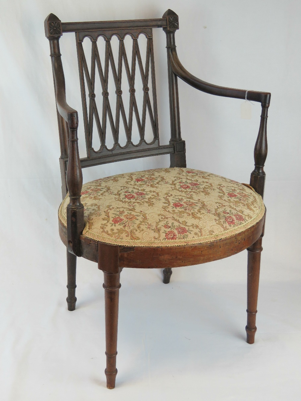 Lot 813 - A 19th century mahogany single salon cha