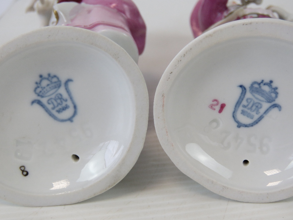 A pair of Continental porcelain figurine - Image 2 of 2