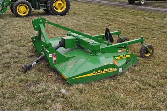 JD MX8 rotary mower, 3 pt, 540 pto, dovetail w/ chains, dual gear