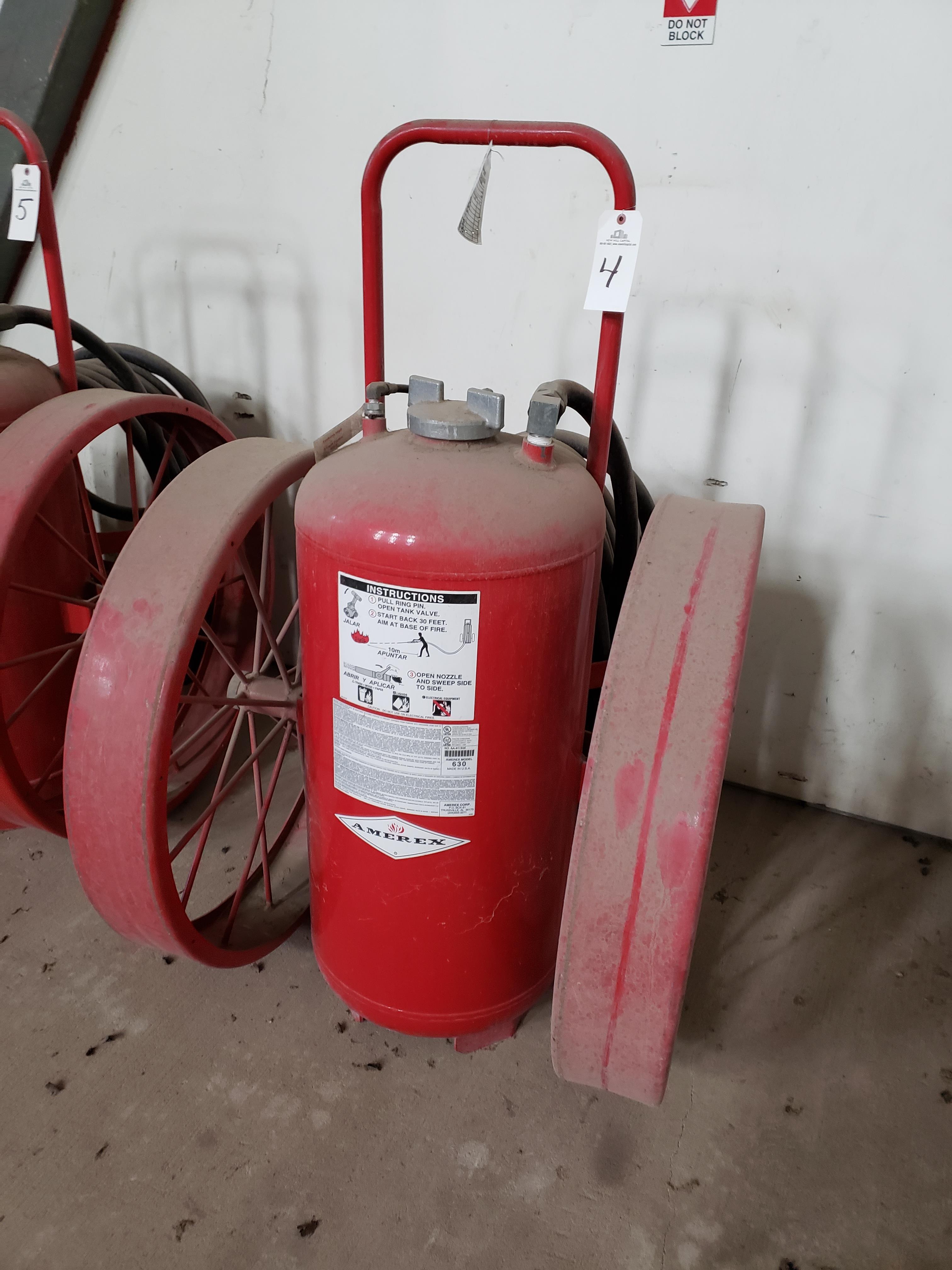 Lot 4 - Amerex Fire Extinguisher, M# 630 | Rig Fee: $25