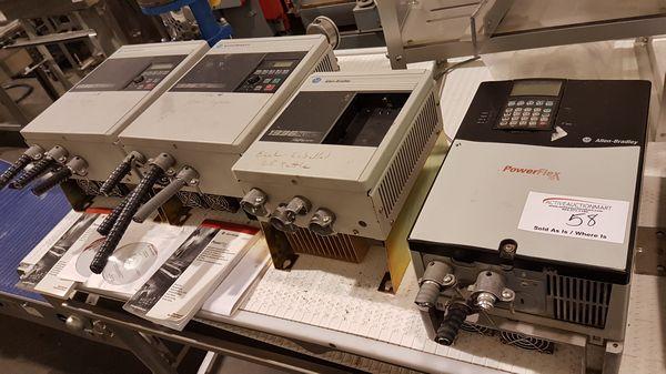 Lot 58 - 4 Allan Bradley Electric Drive Controllers