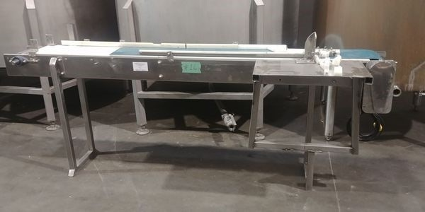 """Lot 8 - 9"""" Wide x 92"""" Long Stainless Steel Conveying Table"""