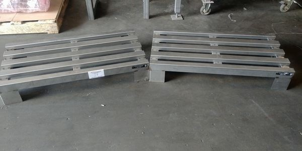 """Lot 13 - 2 - Franesse 36"""" x 13"""" All Stainless Steel Dunnage Rack"""