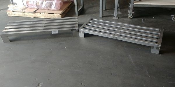 "Lot 17 - 2 - Franesse 48"" x 13"" All Stainless Steel Dunnage Rack"