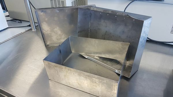 Lot 40 - Lot of 12 Stainless Steel Cheese Moulds