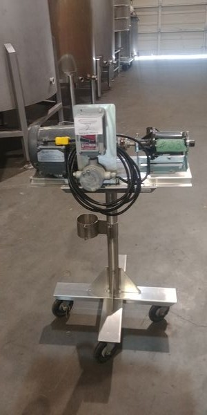 Lot 2 - Electric Transfer Pump on Stainless Steel Cart with Casters